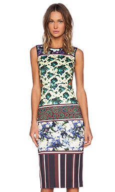Clover Canyon Floral Collage Dress in Yellow