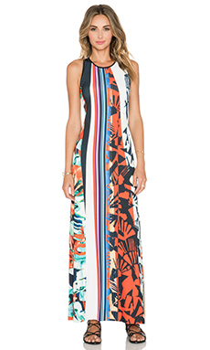 Clover Canyon Ink Strokes Maxi Dress in Multi