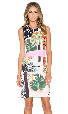Clover Canyon Falling Leaves Dress in Multi