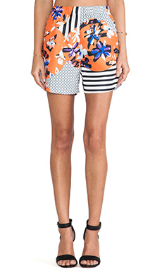 Clover Canyon Floral Discs Short in Orange