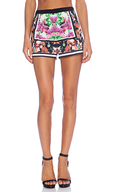 Clover Canyon Floral Scarf Print Shorts in Multi