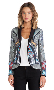 Clover Canyon Flight Of The Earls Neoprene Blazer in Multi