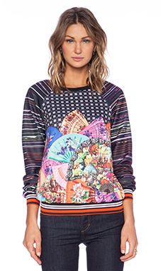Clover Canyon Dancing Fans Sweatshirt in Multi