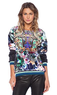 Clover Canyon Night Matador Faux Fur Sweatshirt in Multi