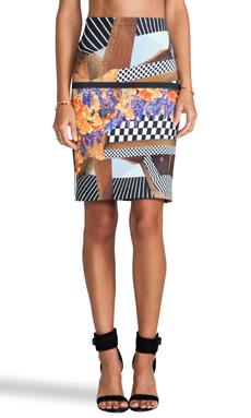 Clover Canyon Lautner Land Neoprene Skirt in Multi