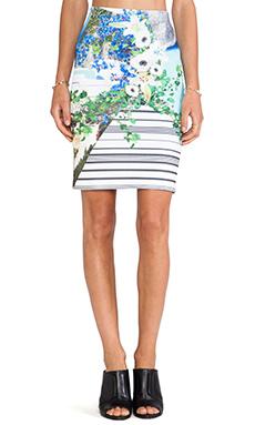 Clover Canyon Corfu Swirl Neoprene Skirt in Multi