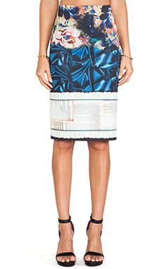Clover Canyon James Joyce Neoprene Skirt in Multi