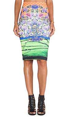 Clover Canyon Newgrange Clover Pastures Neoprene Skirt in Multi
