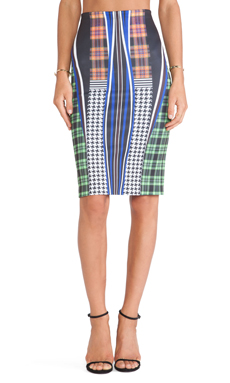 Clover Canyon Dublin Neoprene Skirt in Multi