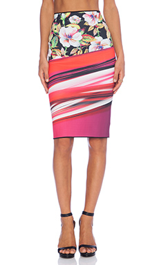 Clover Canyon Botanical Wave Reversible Skirt in Multi