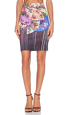 Clover Canyon Dancing Fans Skirt in Multi