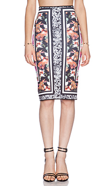 Clover Canyon Floral Scarf Print Reversible Skirt in Multi