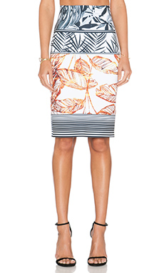 Clover Canyon Gold Leaf Skirt in Multi