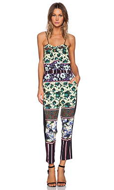 Clover Canyon Floral Collage Jumpsuit in Yellow