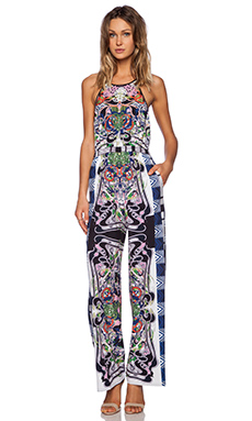 Clover Canyon Swirling Scarf Jumpsuit in Multi