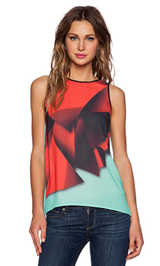 Clover Canyon Folded Floral Top in Multi