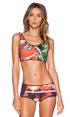 Clover Canyon Secret Garden Reversible Bikini Top in Multi