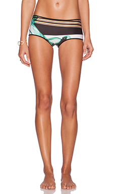 Clover Canyon Liquid Jade Reversible Bikini Bottom in Multi