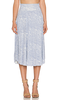 Clayton Cameron Skirt in Grey Leaf