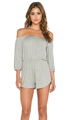 Clayton Adele Romper in Heather Grey