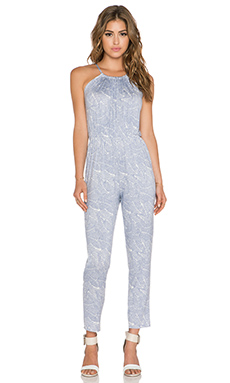 Clayton Courtney Jumpsuit in Grey Leaf