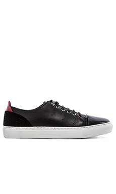 Common Cut Donato Sneaker with Fur in Black
