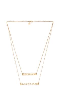 coordinates California Equator Necklace in Gold