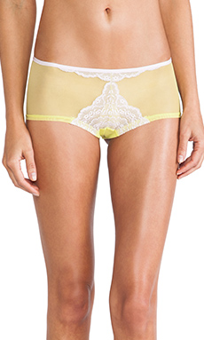 Cosabella Elise LR Hot Pant in Frosty Lilac & Neon Green