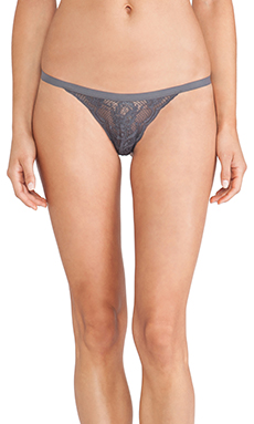 Cosabella Never Say Never Skimpie G-String in Anthracite