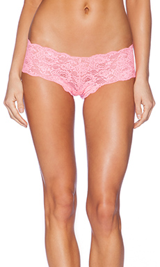 Cosabella Never Say Never Naughtie Lace Hotpant in Neon Rose