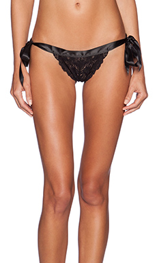 Cosabella Erin Fetherston Lace Thong in Black