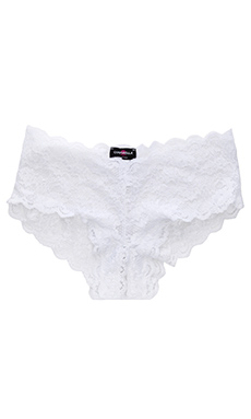 Cosabella Never Say Never Naughtie LR Hot Pant in White