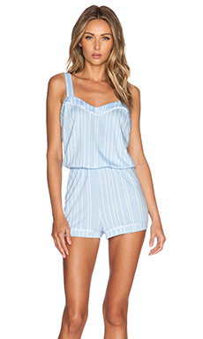 Cosabella Bella PJ Romper in Caspian Sea Stripes & White