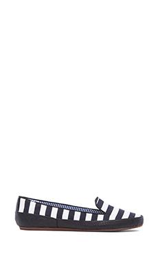 Charles Philip Shanghai Gaby Loafer in Black & White