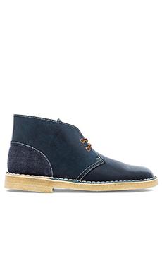 Clarks x Herschel Desert Boot in Blue Combi
