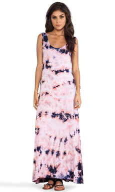 Chaser Deep Armhole Maxi Dress in Candy Tie Dye