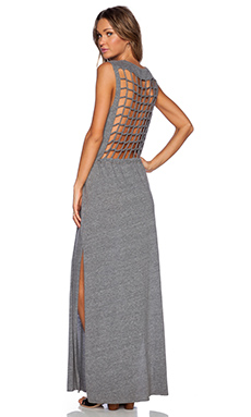 Chaser Maxi Dress in Streaky Grey