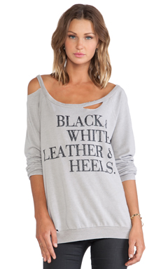 Chaser Leather & Heels Sweater in Metal