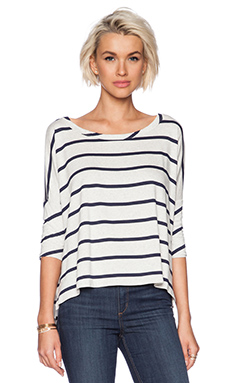 Chaser Hi-Low Pullover in Striped