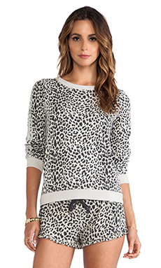 Chaser Reverse Animal Print Pullover in Lace