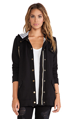 Chaser Hooded Hunter's Jacket in Black