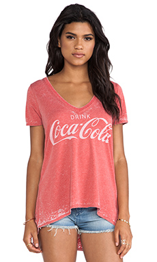 Chaser Drink Coca-Cola Tee in Red