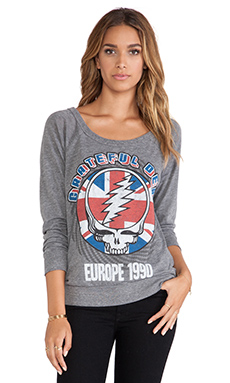 Chaser Europe 1990 Grateful Dead Top in Grey