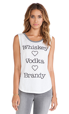 Chaser Whiskey Vodka Brandy Tank in White