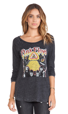 Chaser Pink Floyd Heart of the Sun Top in Black
