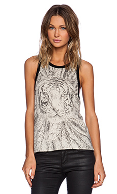Chaser Tiger Feather Tank in Black