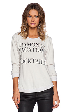 Chaser Diamonds Vacation & Cocktails Tee in Antique White