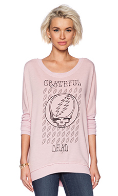 Chaser Grateful Dead Lightning Bolts Tee in Pink