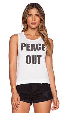 Chaser Peace Out Tank in White