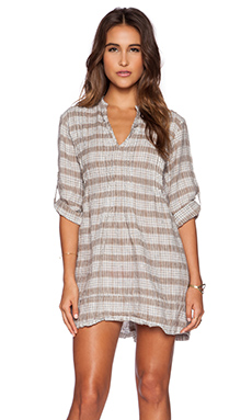 CP SHADES Regina Plaid Dress in Tan Plaid